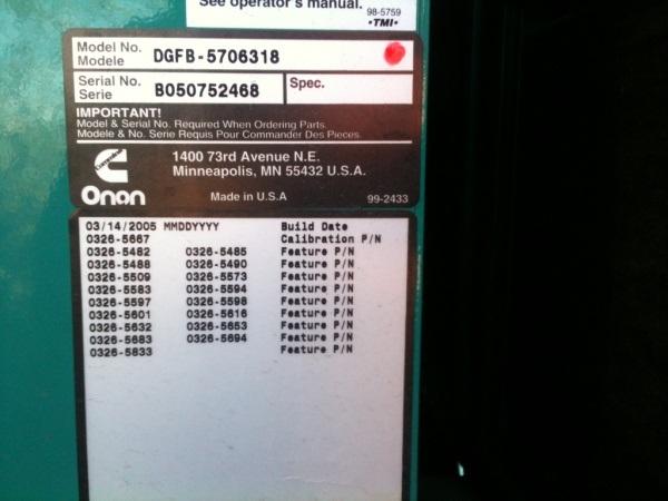 Onan Warranty Work, RV Generators