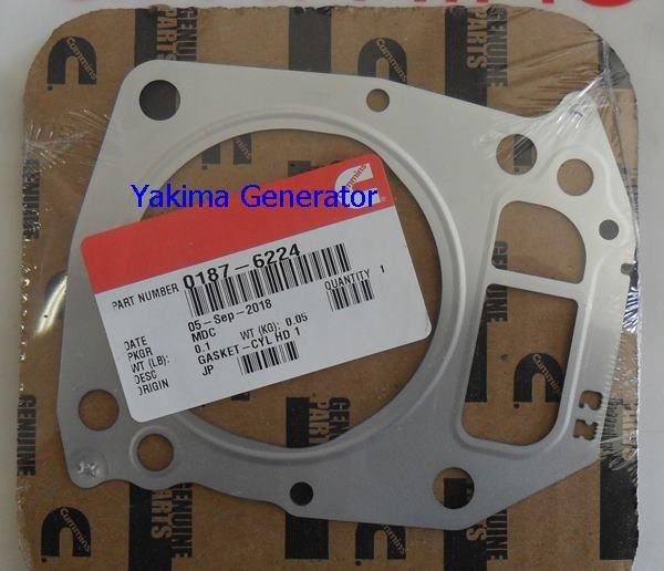 Onan RV QG 5500, 6500, 7000 Head gasket cylinder #1, 187-6224