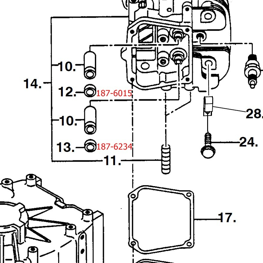 Onan Exhaust Valve Seal 187 6234