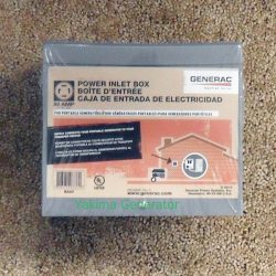 Rain tight power box for portable generator hook up