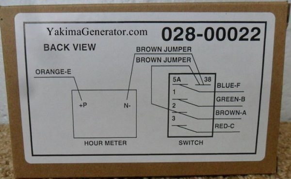 02800022, Generator start stop switch remote