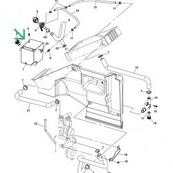Cummins Onan RV QD coolant tank 130-4322