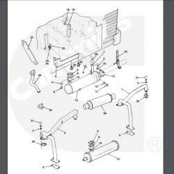 exhaust manifold 154-2551 Onan BGE generator
