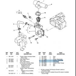 Cummins Marine QD Thermostat 185-6004, 185-6005
