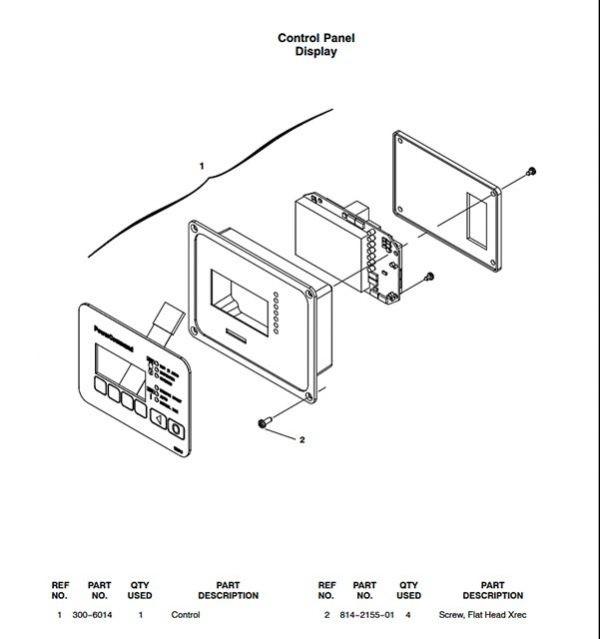 Cummins Onan 300-6014 Control panel for RS30 standby generators