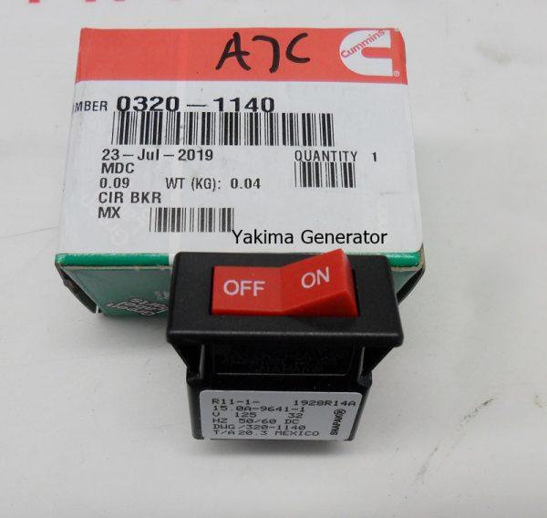 320-1140 circuit breaker switch 15 amp trip 20