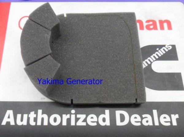 Cummins Onan part 405-4896, insulation filter baffle for generator end on Onan Ky and KYD generators, RV QG 4000
