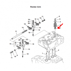 Cummins RV QD Valve stem Seal A040R258