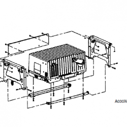 RV QG 4000 under floor generator mount A030X652