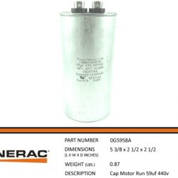 Generac Capacitor 0G5958A