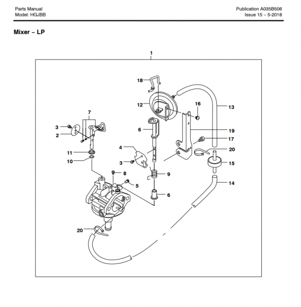 Complete A043x143 mixer assembly