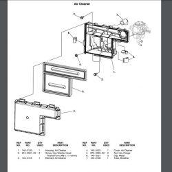 Cummins Onan HGJA_ series generator Air filter cover and base , RV QG 5500