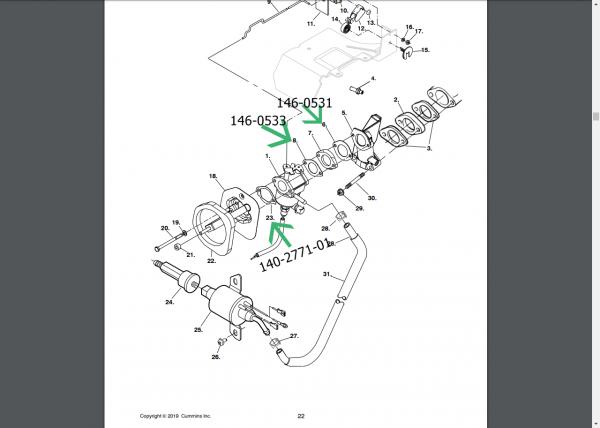 Onan Cummins RV QG 4000 generator carburetor gaskets