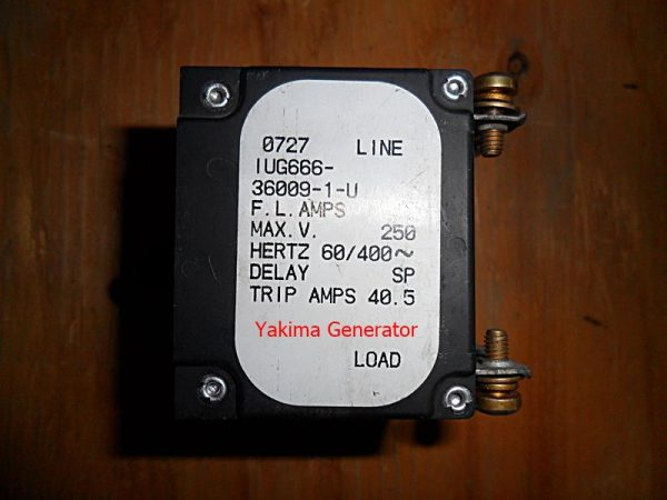 250v 3-Phase Circuit Breaker Load Sticker from an Onan 12HQDPB