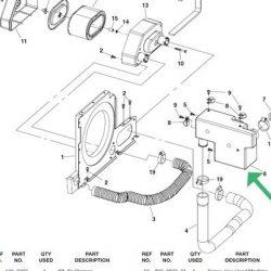 Cummons Onan Air intake resonator 140-4273, 134-5126