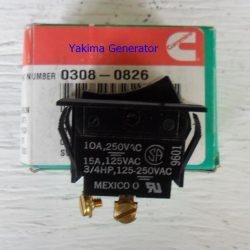 Cummins Onan 308-0826 rocker switch