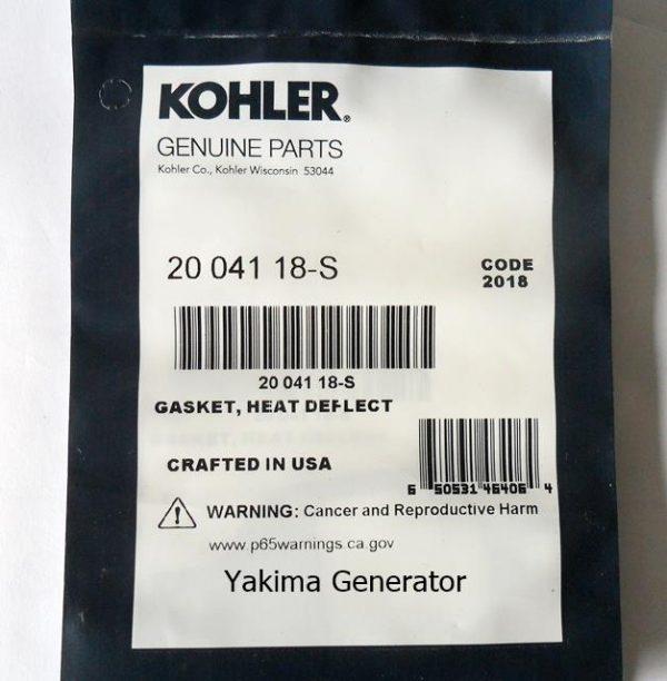 Heat deflector gasket Kohler 2004118-s