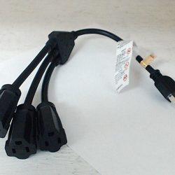 """15 awg extension cord splitter 16"""""""