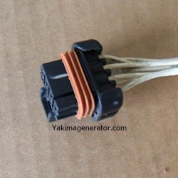 Onan 323-1743 ( J2 ) remote plug on the generator side. This plug is a 8 pin with 7 wires already attached, Fits 4KY spec j and up. Will fit Onan HGJA Series generators - Some of the RV QG 5500 7000 use wires instead of 7