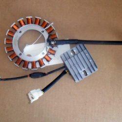 Cummins Onan Engine Stator and charger regulator for Cummins Onan standby Generators. A054z634 and A054z632